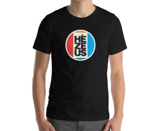 HéZeus Short-Sleeve Unisex T-Shirt Black