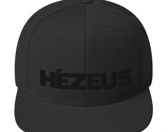 Snapback Hat Black on Black
